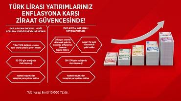 Ziraat Bankası enflasyona endeksli hesaplar