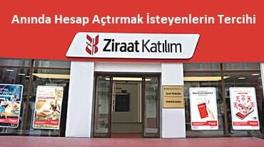 Ziraat Bankası hesap açma anında