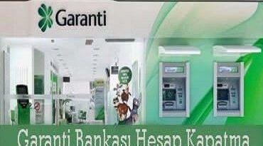Garanti Bankası hesap kapatma 2020