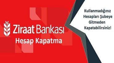 Ziraat Bankası hesap kapatma 2020
