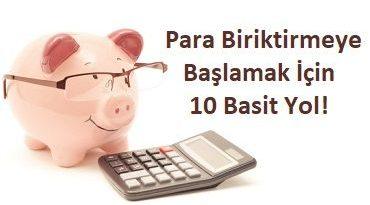 para biriktirmeye başlamak için 10 basit yol