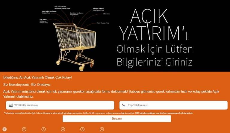 internetten Turkish Bank hesap açma