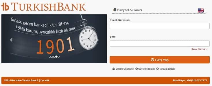 Turkish Bank hesap açma