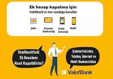 Vakıfbank ek hesap nasıl kapatılır